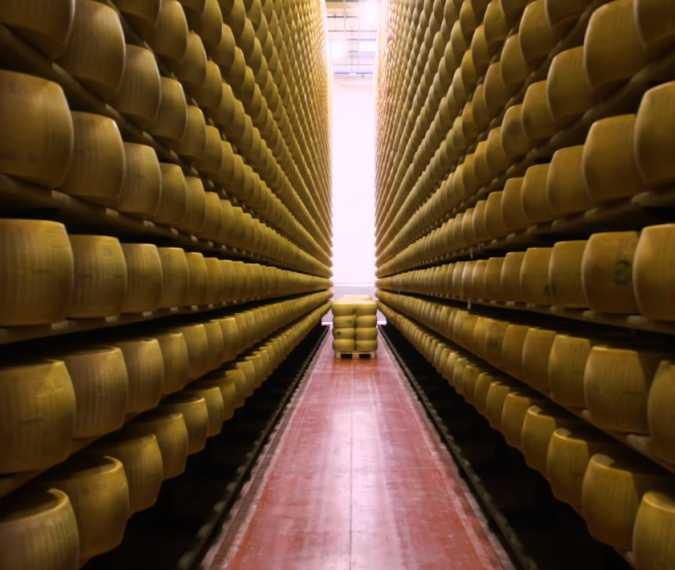 This italian bank accepts parmesan as collateral for a loan